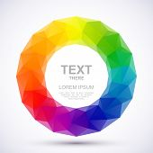 Vector illustration of low-poly color wheel. Eps 10 poster