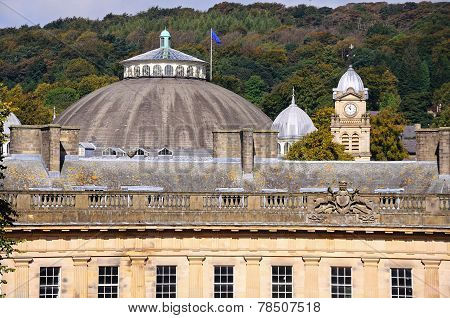 The Devonshire Royal Hospital also known as the Devonshire Dome Buxton Derbyshire England UK Western Europe. poster