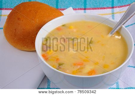 Smoked fish soup.