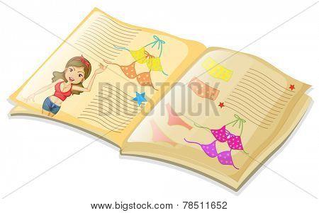 Illustration of a book of bikini