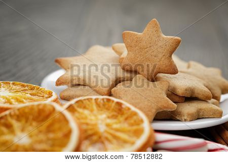 Traditional Food And Decorations For Christmas