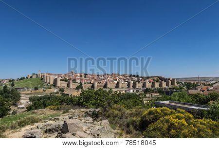 Panoramic View Of Avila, Spain