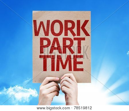 Work Part Time card with beautiful day
