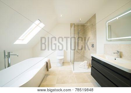 Interior View Of Beautiful Luxury Bathroom