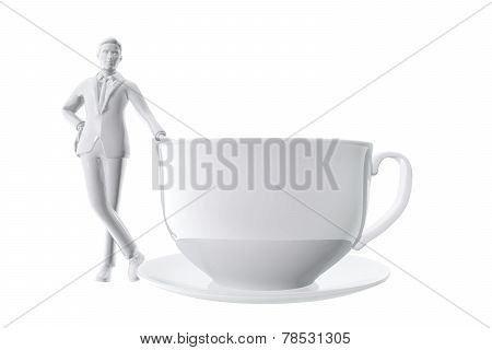 Businessman And Cup Of Coffe