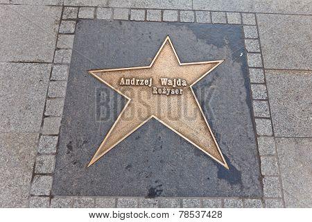 Star For Andrzej Wajda In Lodz, Poland