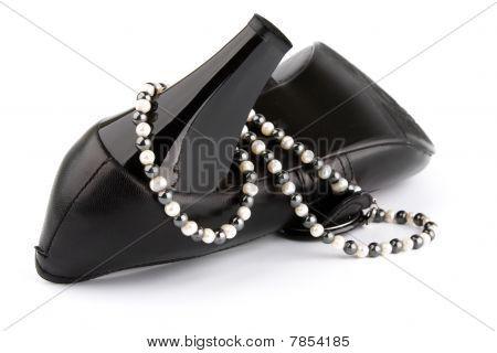 High Heels Shoe And Beads