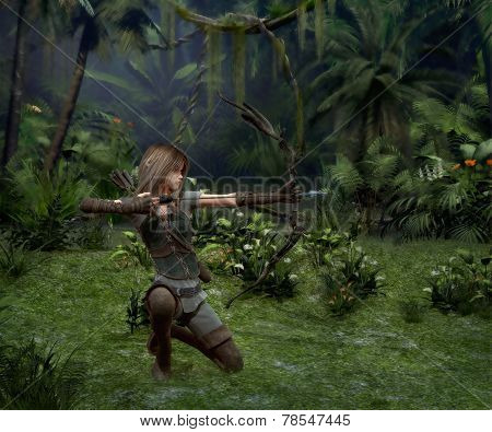 A Little Hunter In The Jungle, 3D Cg