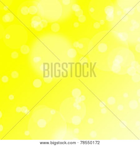 Yellow glowing bokeh background