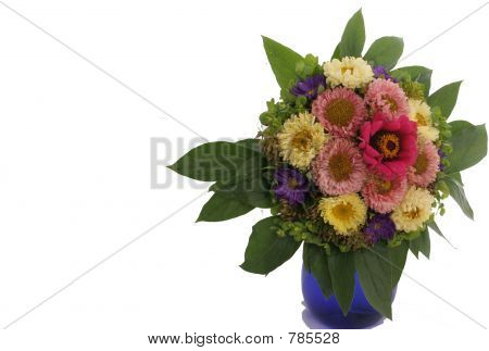 flowers on the white background poster