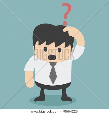 Businessman Confusing