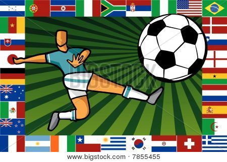 Championship South Africa soccer poster