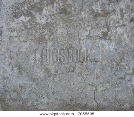 Dirty Gray Blue Damaged Worn Wall
