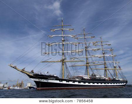 kruzenstern old sailboat