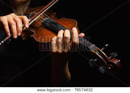 Musician Playing Violin