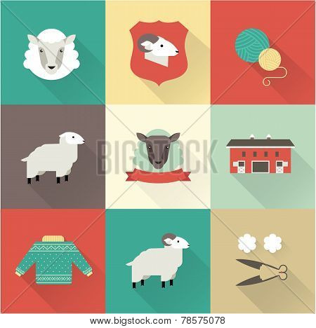 sheep vector set