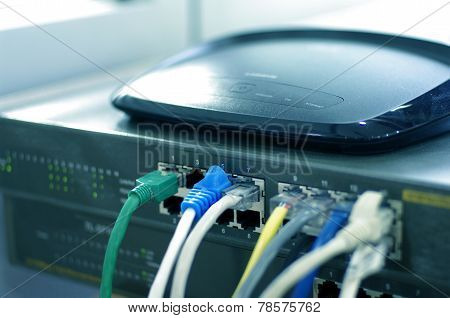 Router with cable wires