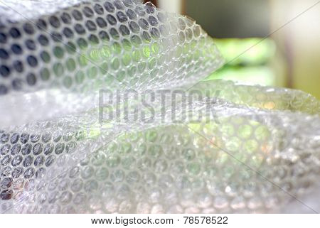 bubble wrap texture close up for background