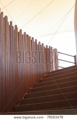 Wood Panel And Stair