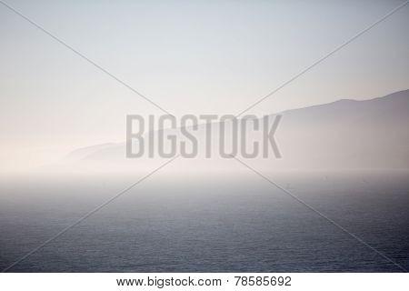 Foggy Mountain And Ocean