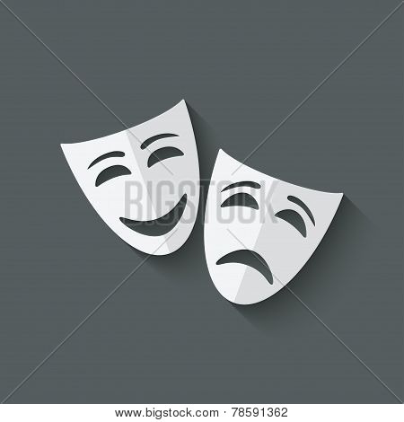 comedy and tragedy theatrical masks