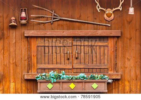Wood Window On Wood House