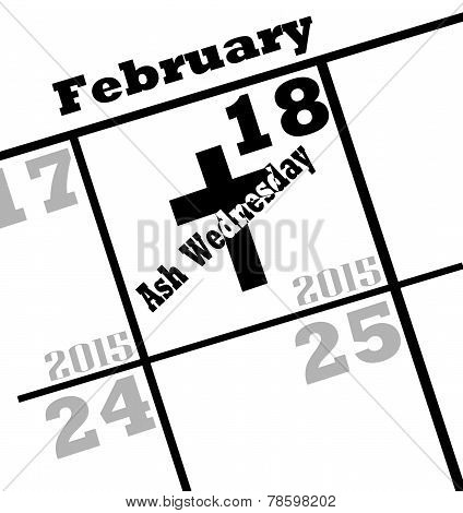 2015 ash wednesday icon