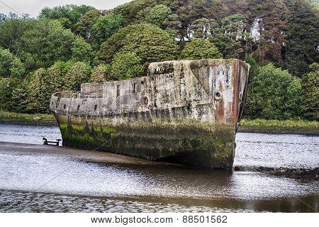 Concrete Ships, Ballina, Co. Mayo, Ireland