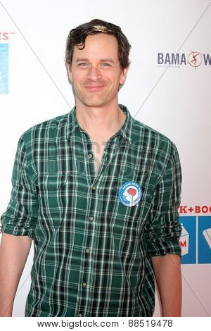 LOS ANGELES - FEB 19:  Tom Everett Scott at the Milk+Bookies Sixth Annual Story Time Celebration at the Toyota Grand Prix Racecourse on April 19, 2015 in Long Beach, CA