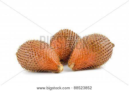 Sweet Zalacca Fruit On White Background
