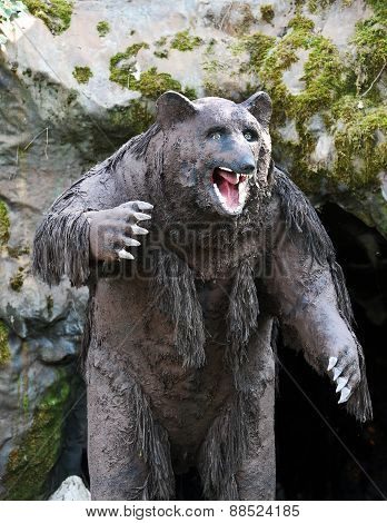 Model Of Cavern Bear In Outdoor Theme Park