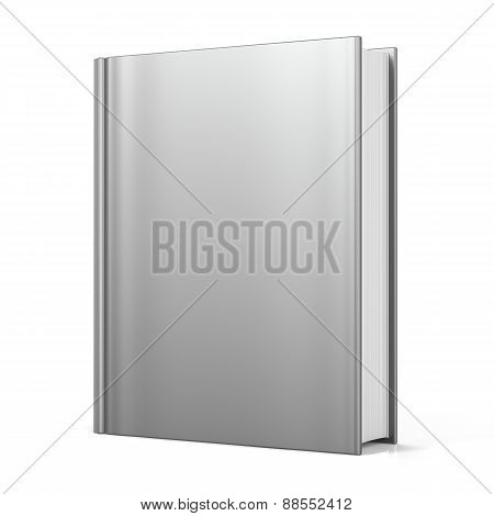 Blank Book Cover Empty Template Single Brochure Textbook