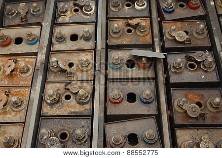 Old Industrial Batteries