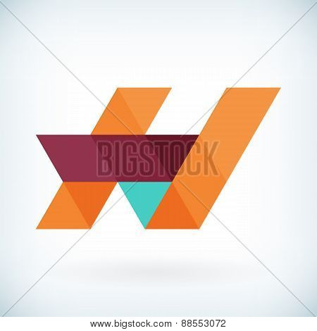 Modern Letter H Icon Flat Design Element Template