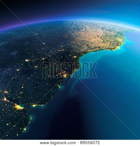 Detailed Earth. South America. Rio De La Plata