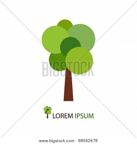 Abstract green tree as logo