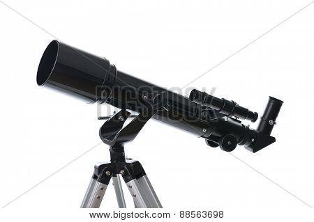 telescope isolated on white background
