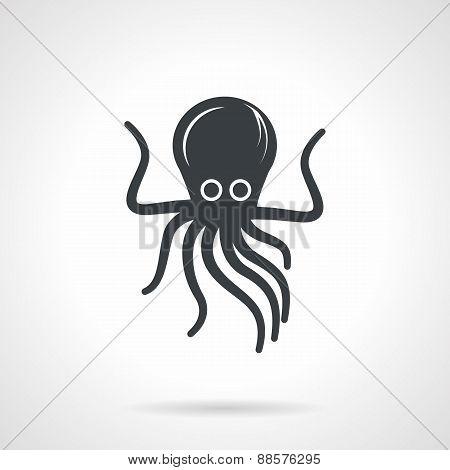 Octopus black vector icon