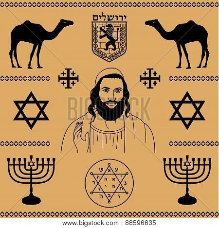 Наклейки traditional, collection, отражение - установить символ израиля простой монтаж возврат 365 дней посмотрите