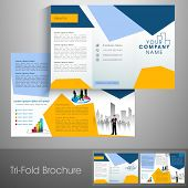 Professional trifold brochure, catalog and flyer template for business purpose. poster