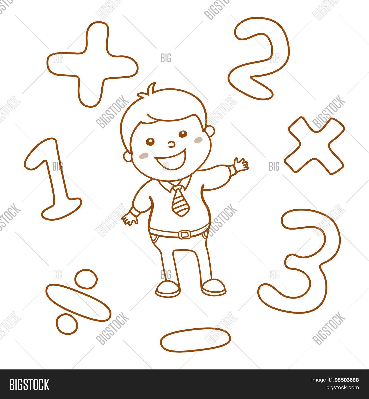 Cartoon Style Math Vector Photo Free Trial Bigstock