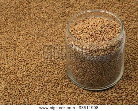 buckwheat in a glass jar