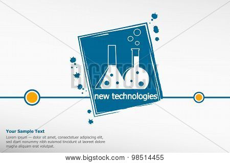 The Concept Of Chemical Science Research Lab Retorts, Flasks.