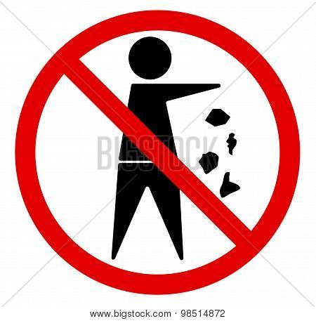 No littering. Vector illustration