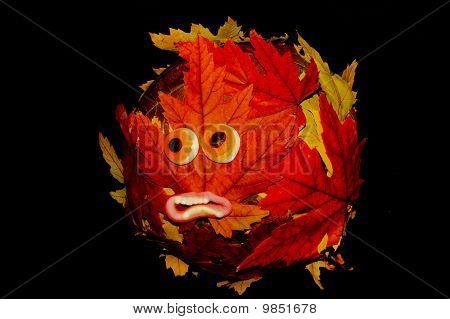 Halloween Leaf Abstract Globe
