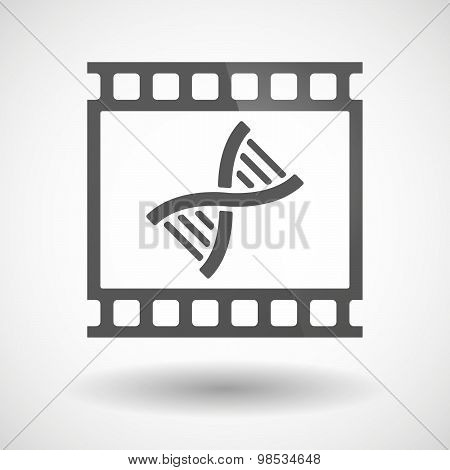 Photographic Film Icon With A Dna Sign
