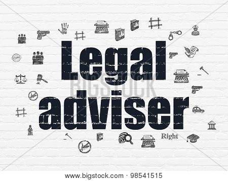Law concept: Legal Adviser on wall background