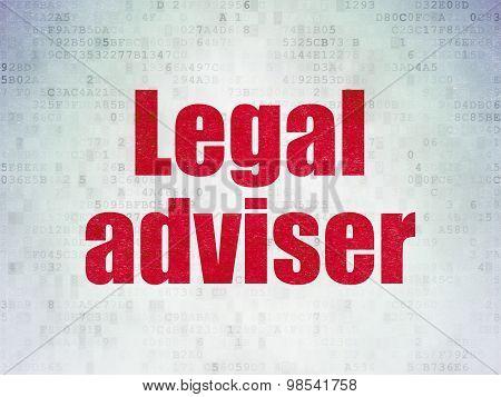 Law concept: Legal Adviser on Digital Paper background