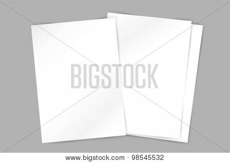 Vector brochure blank template. Abstract flyer design and creative magazine idea, 3d blank, book cover or banner template, paper, journal. Stock illustration