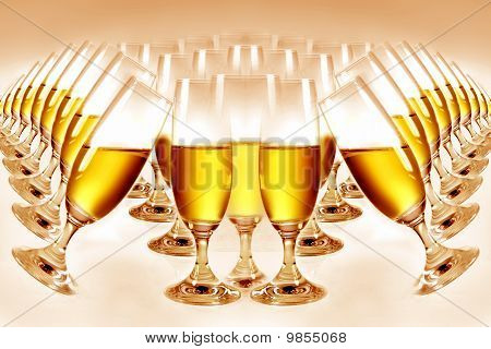 goblets with champagne